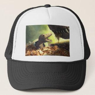 Dinosaur-themed clothing trucker hat