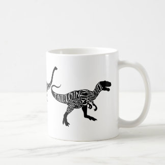 Dinosaur Trex diplodocus Meat Cuts Chart diagram Coffee Mug