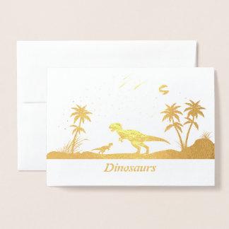 Dinosaur Under the Stars Foil Card