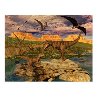 Dinosaur valley postcard