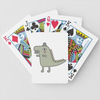 Dinosaur Wearing Hat Poker Deck