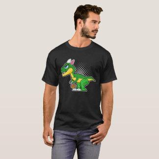 Dinosaur With Bunny Ears Easter Eggs Basket Tee