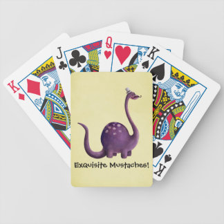 Dinosaur with Mustaches Poker Deck