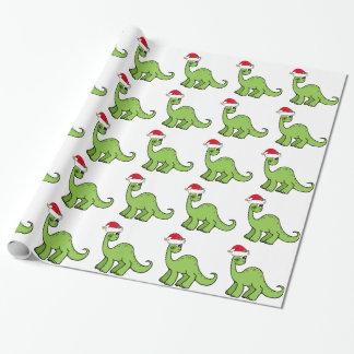 Dinosaure de Noël Papier Cadeau