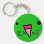 dinosaure de rawr porte-clé rond
