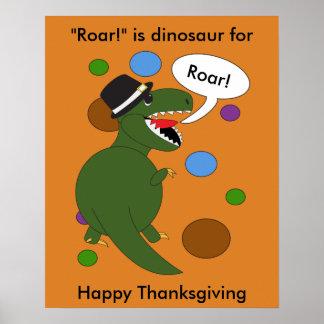 Dinosaure de Rex de Tyrannosaurus de thanksgiving