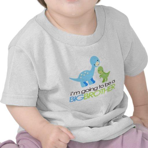 Dinosaure je vais être un frère t-shirt