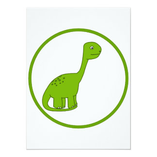 Dinosaure mignon invitations personnalisées