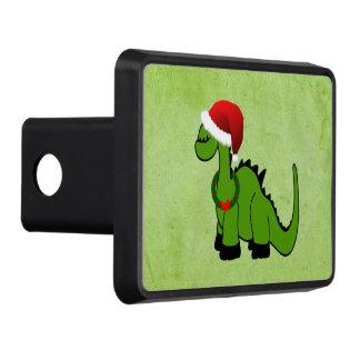 Dinosaure vert dans un chapeau de Père Noël pour Couverture D'attelage De Remorque