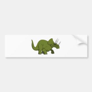 Dinosaure vert de Triceratops Autocollant De Voiture