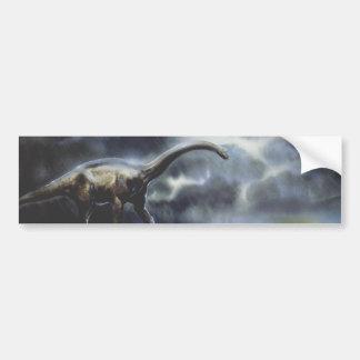 Dinosaure vintage de Barapasaurus avec des nuages Autocollant De Voiture