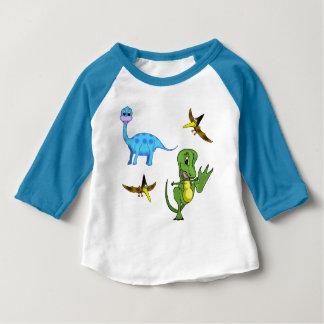 Dinosaurs Baby American Apparel 3/4 Sleeve Raglan Baby T-Shirt