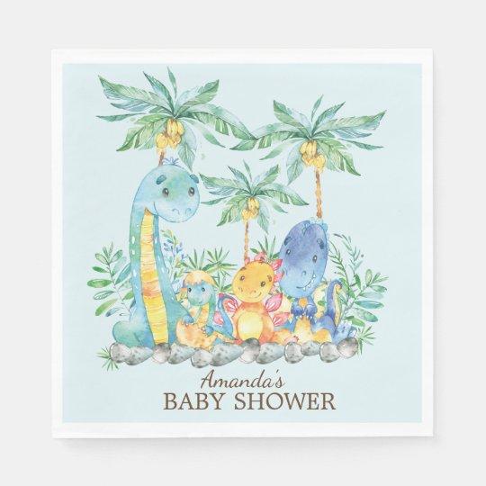 Dinosaurs Baby Shower Paper Napkins