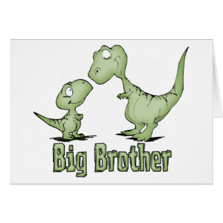 Dinosaurs Big Brother Note Card