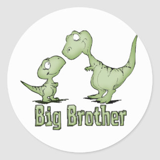 Dinosaurs Big Brother Round Sticker