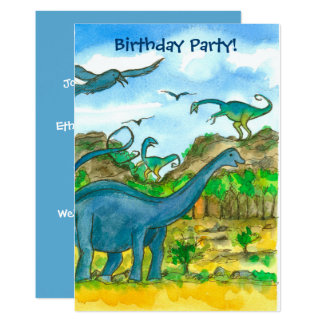 Dinosaurs Birthday Party Invitation