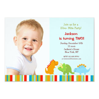 Dinosaurs Birthday Party Invitations