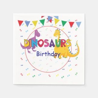 Dinosaurs Birthday party napkins