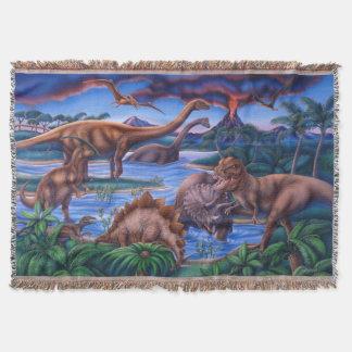 Dinosaurs Blanket Throw