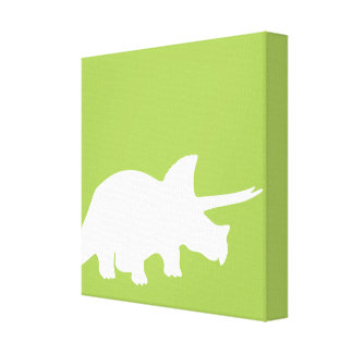Dinosaurs canvas art  in green