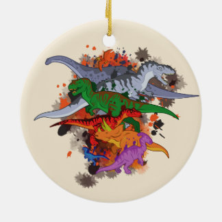 Dinosaurs Ceramic Ornament