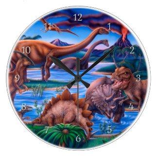 Dinosaurs Clock