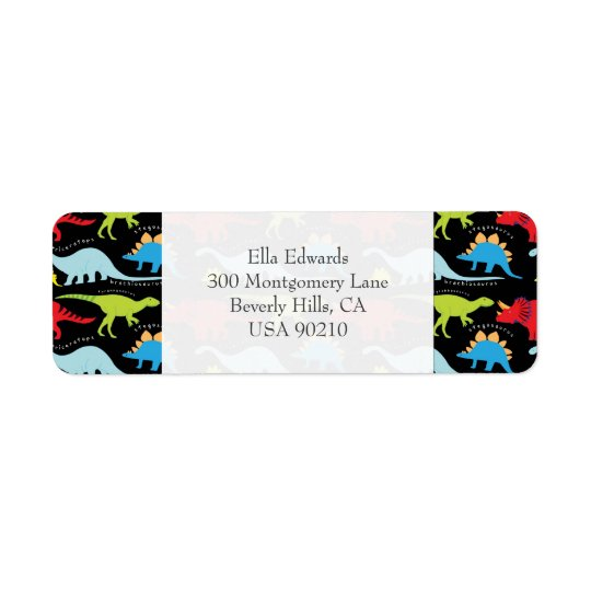 Dinosaurs Customizable Return Address Label