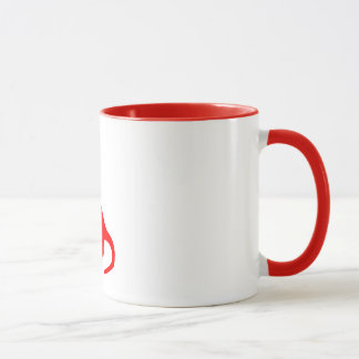 Dinosaurs | Cute Red Long-Necked Brontosaurus Mug