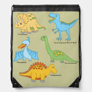 Dinosaurs Drawstring Bag