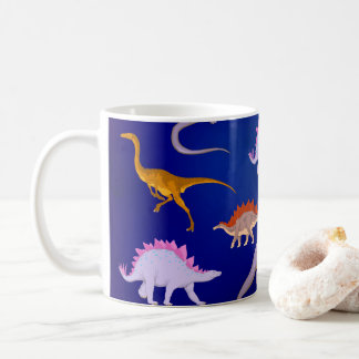 Dinosaurs get together coffee mug