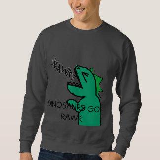 DINOSAURS GO RAWR mens sweatshirt