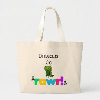 Dinosaurs Go Rawr xD Large Tote Bag