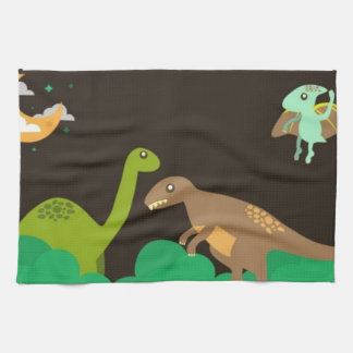 dinosaurs kitchen towel