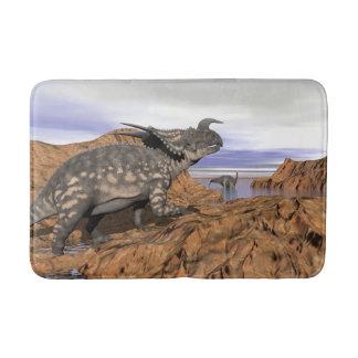 Dinosaurs landscape - 3D render Bath Mat