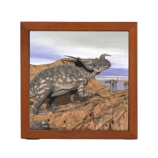 Dinosaurs landscape - 3D render Desk Organizer