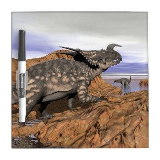 Dinosaurs landscape - 3D render Dry Erase Board