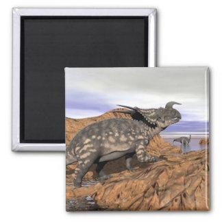 Dinosaurs landscape - 3D render Magnet