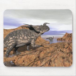 Dinosaurs landscape - 3D render Mouse Pad