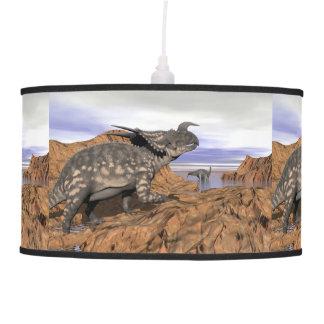 Dinosaurs landscape - 3D render Pendant Lamp