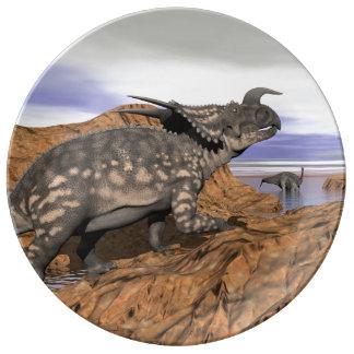 Dinosaurs landscape - 3D render Plate