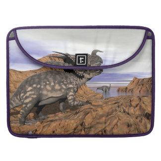 Dinosaurs landscape - 3D render Sleeve For MacBook Pro
