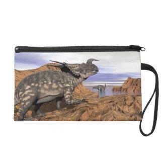 Dinosaurs landscape - 3D render Wristlet