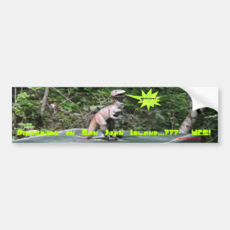 Dinosaurs on San Juan Island Bumper Sticker