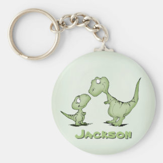 Dinosaurs Personalized Basic Round Button Keychain