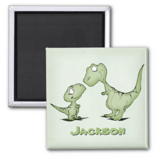 Dinosaurs Personalized Square Magnet