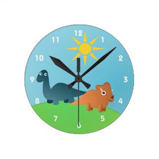 Dinosaurs Round Clock