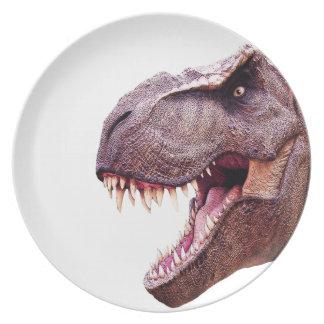 Dinosaurs T-Rex Dinner Plates