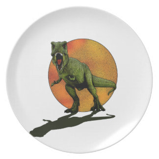Dinosaurs T-Rex Party Plates