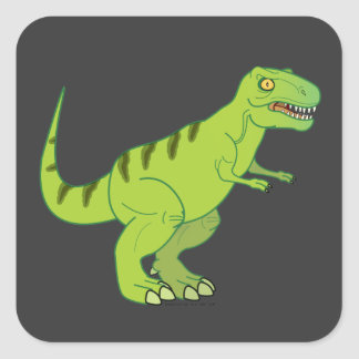 Dinosaurs: Tyrannosaurus Rex Square Sticker