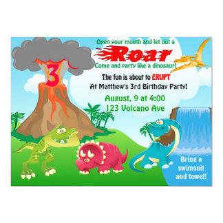 Dinousaur Volcano Invitations